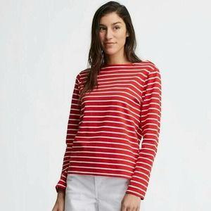 Uniqlo Striped Boat Neck Long Sleeve Top L